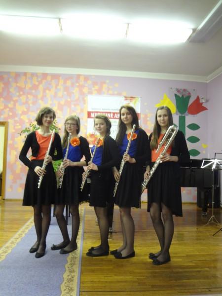 """12.03.2014. flautu ansamblis ''Musical Aquarelle 2014."""" Starptautiskajā kameransambļu konkursā II v."""