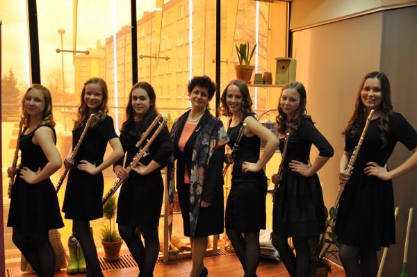 """Flautistu ansamblis """"Con anima"""" Liepājas Dzintarā 2016.gada aprīlī"""